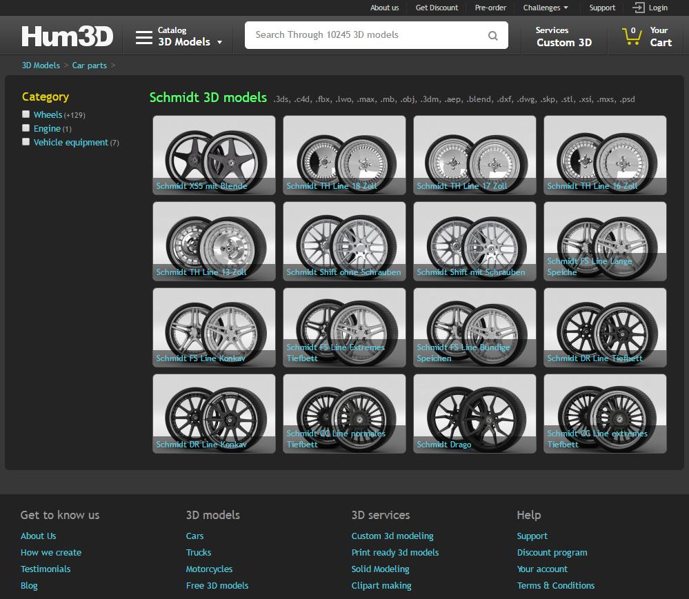 humste3d schmidt wheels
