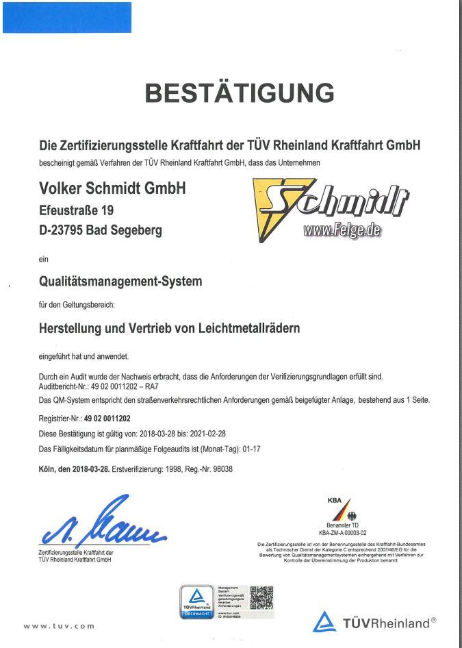 Premium Wheels by Schmidt Germany